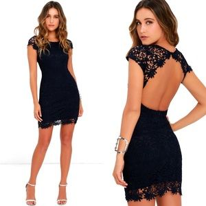 Lulu's | Hidden Talent Backless Navy Dress